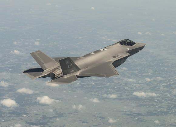 An F-35 in flight