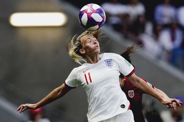 Toni Duggan of England Women during the World Cup Women match between Norway v England at the Stade Oceane on June 27, 2019 in Le Havre France. (Photo by Geert van Erven/Soccrates/Getty Images)