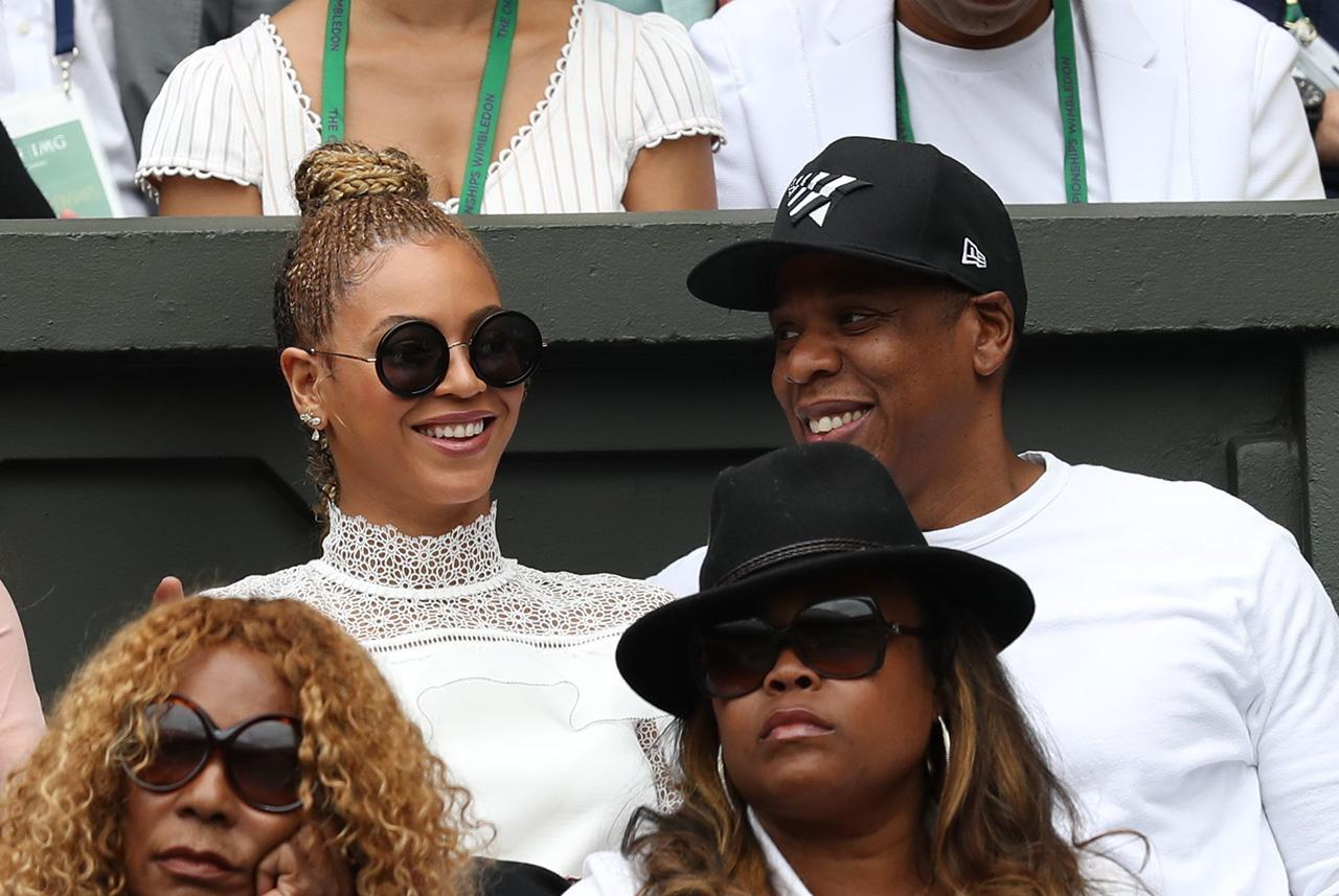<p>While taking in a match at Wimbledon in July, they embraced the idea of tennis whites. (Photo: PacificCoastNews) </p>