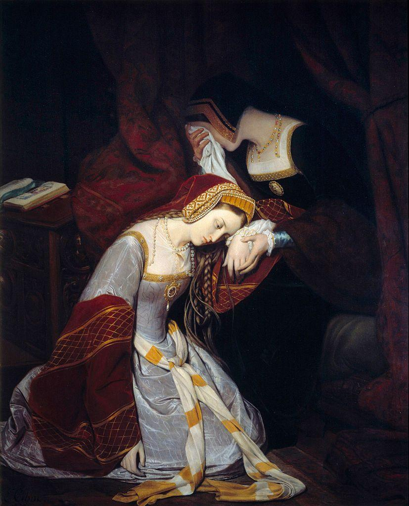 <p>Here, Henry VIII's wife, Anne Boleyn, is seen wearing a Tudor-style dress, which was common in medieval times. The style often featured long, draped sleeves, as well as heavy fabrics, such as velvet. The square neckline was also made popular and would typically be adorned with layers of necklaces and jewels. </p>