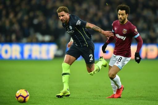 Manchester City's Kyle Walker helped the champions run riot at West HamMore