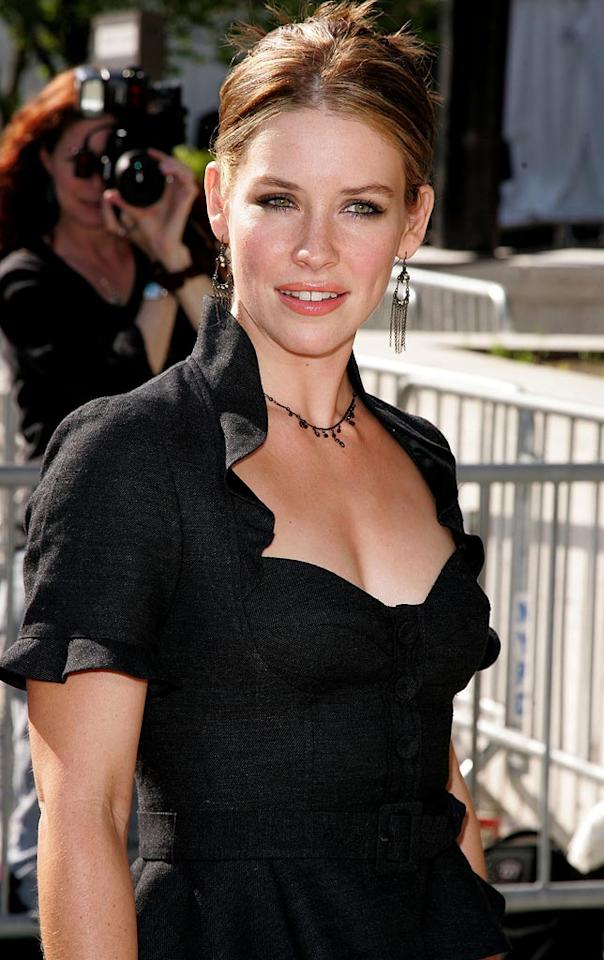 """All the attention is in the details of Evangeline Lilly's black top. James Devaney/<a href=""""http://www.wireimage.com"""" target=""""new"""">WireImage.com</a> - May 15, 2007"""