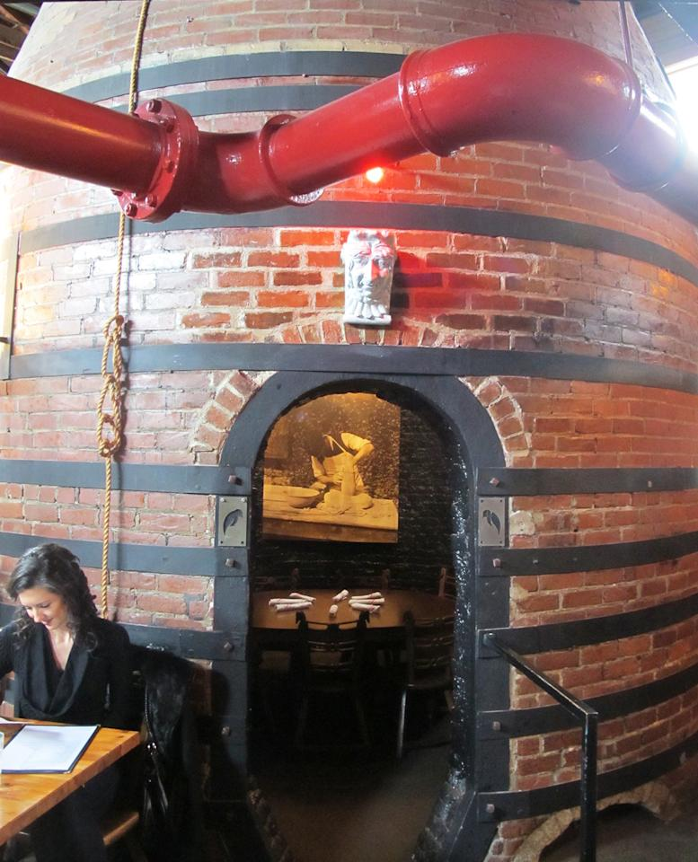 """<p>This Mount Adams <a href=""""http://therookwood.com/"""">restaurant</a> is in the site of the former factory for Rookwood Pottery. Guests can dine inside a former kiln still standing from the original structure.<br /></p><p><br /></p>"""