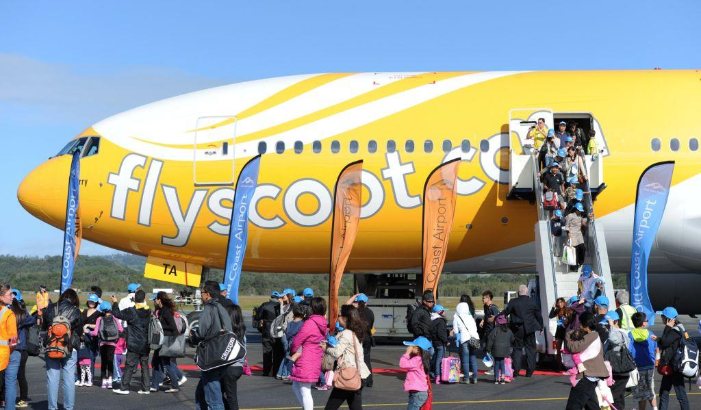 Passengers on the inaugural Singapore to Gold Coast flight disembark at Gold Coast Airport. Gold Coast Airport has been named among the top child-friendly airports in the world by Conde Nast Traveller India magazine.