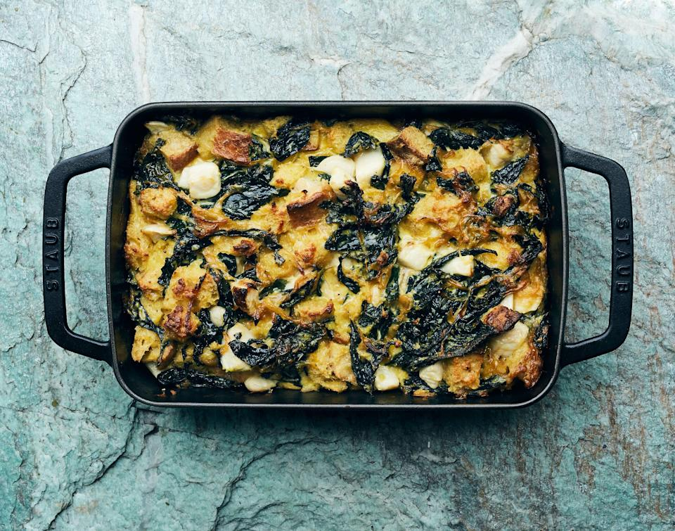 """If you come across turnips with good-looking greens still attached, use in place of the kale. <a href=""""https://www.bonappetit.com/recipe/turnip-and-kale-gratin?mbid=synd_yahoo_rss"""" rel=""""nofollow noopener"""" target=""""_blank"""" data-ylk=""""slk:See recipe."""" class=""""link rapid-noclick-resp"""">See recipe.</a>"""
