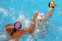 """<p><a href=""""https://www.buzzfeed.com/annanorth/the-10-most-unusual-rules-of-the-olympic-games"""" rel=""""nofollow noopener"""" target=""""_blank"""" data-ylk=""""slk:Water polo"""" class=""""link rapid-noclick-resp"""">Water polo</a> is a tough sport, but there's no excessive force — and that includes groin grabbing. </p>"""