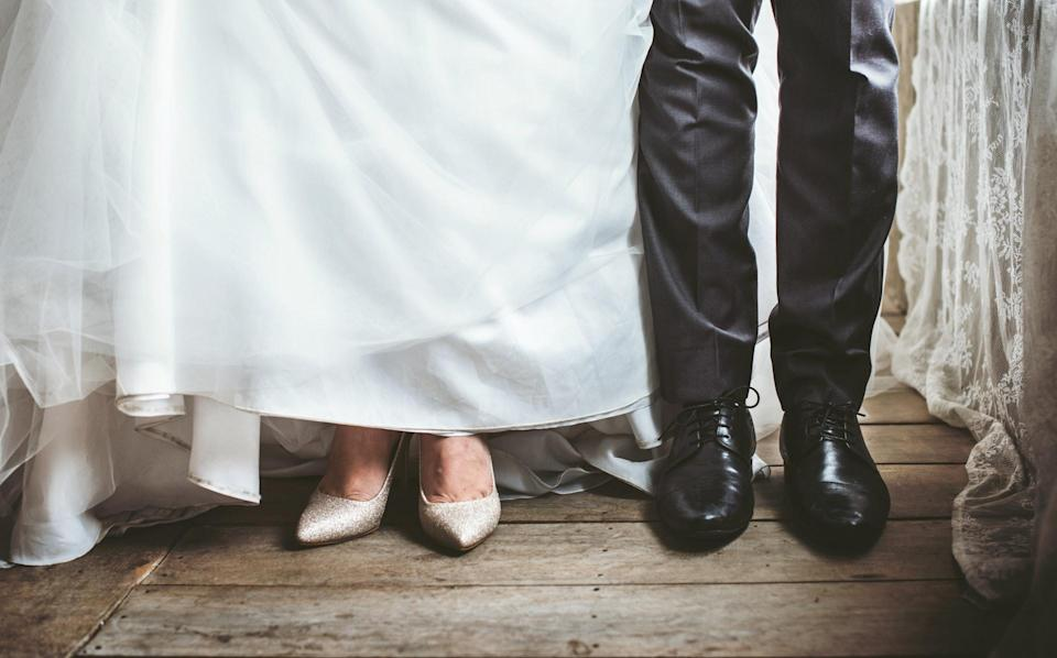 'Bride and groom' was never the dress code [Photo: Pexels]
