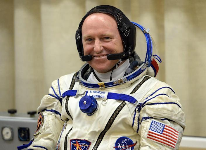 A new spacesuit was shipped to the ISS and will be worn by US astronaut Barry Wilmore for spacewalks outside the International Space Station (AFP Photo/Vasily Maximov)