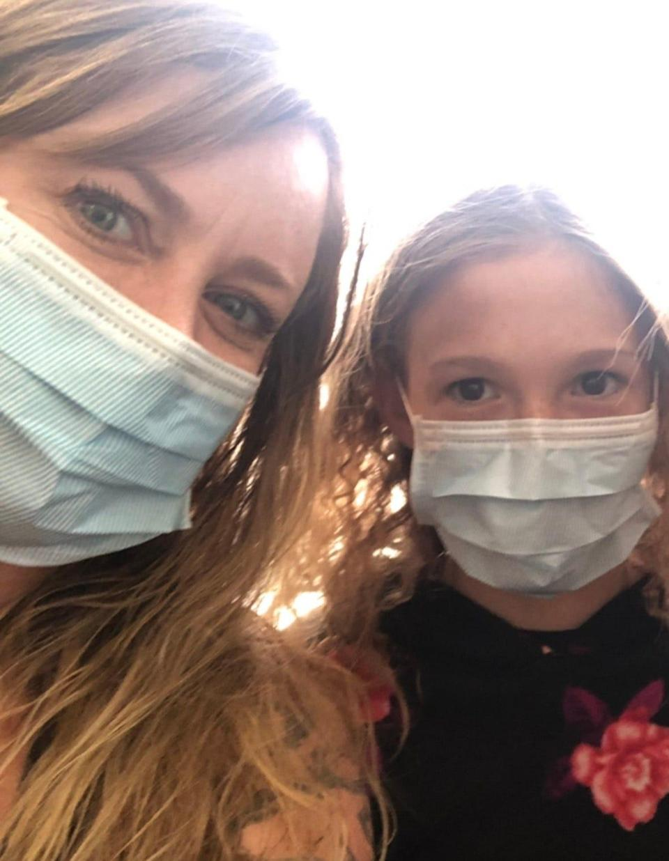 Josie Chelotti, a vice principal and athletic director in Plumas County, California, and her daughter, Eva Morris, who lost their home in the Dixie Fire.