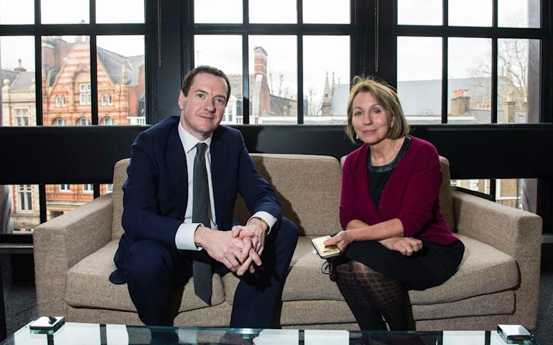 George Osborne with Sarah Sands at the London Evening Standards offices. - © Evening Standard / eyevine. All Rights Reserved.