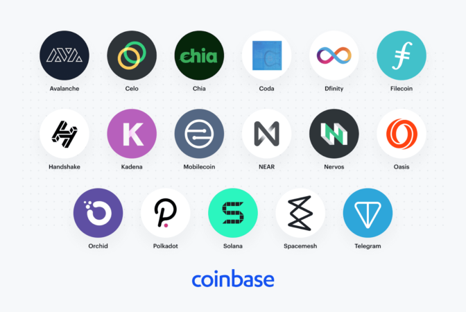 Coinbase is considering 17 new token listings; Avalanche, Chia, and Filecoin among the candidates