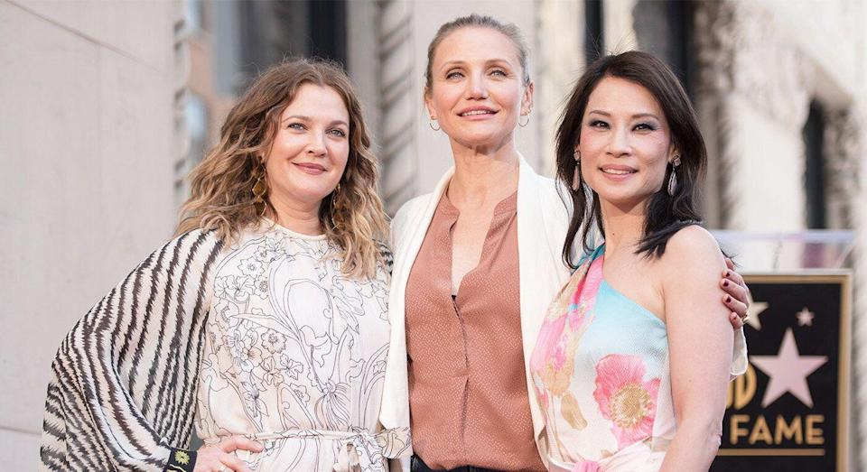 The Charlie's Angels stars reunited to honour Lucy Liu. [Photo: Getty]