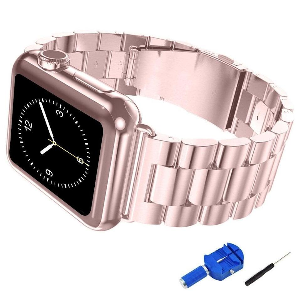 <p>This <span>Iitee Apple Watch Band</span> ($14) will provide you with a luxe look. </p>