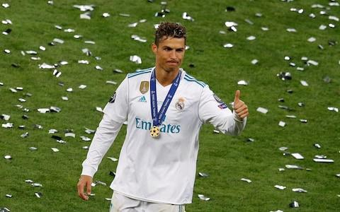 Real Madrid's Cristiano Ronaldo celebrates after winning the Champions League - Credit: Reuters