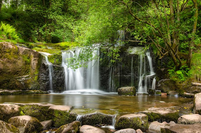 Waterfall in Brecon Beacons National Park, Wales, UK