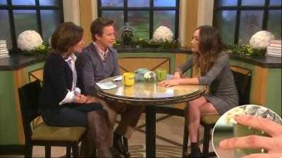 Kit Hoover and Bill Bush interview Maggie Q, who shows off her 'Nikita' injuries to her hand (bottom inset), Dec. 2, 2011 -- Access Hollywood
