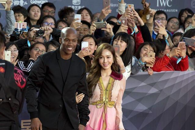 Stephon Marbury attends the China Beijing Film Festival in 2016. (AP)