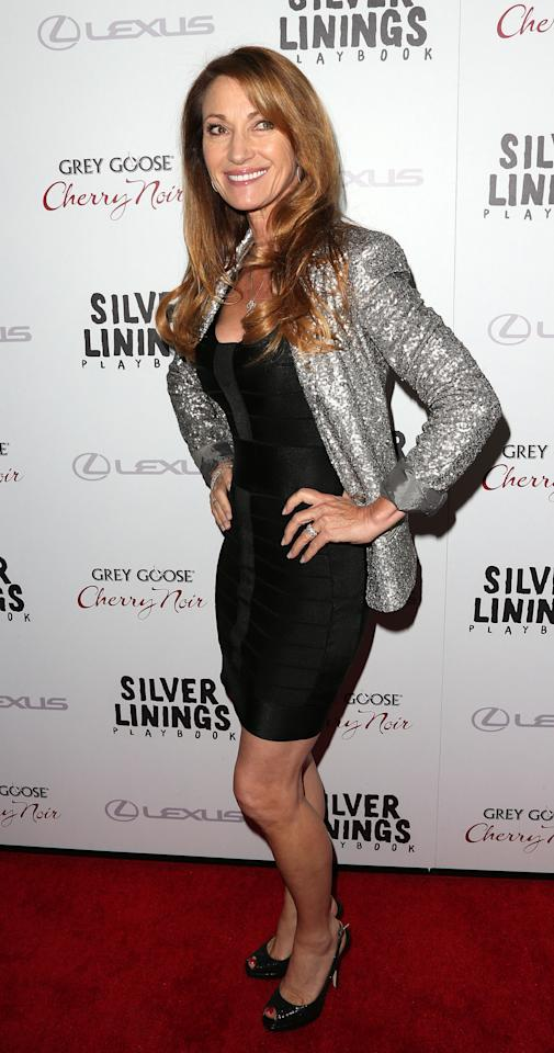 """BEVERLY HILLS, CA - NOVEMBER 19:  Actress Jane Seymour attends the Screening Of The Weinstein Company's """"Silver Linings Playbook"""" at The Academy of Motion Pictures Arts and Sciences on November 19, 2012 in Beverly Hills, California.  (Photo by Frederick M. Brown/Getty Images)"""