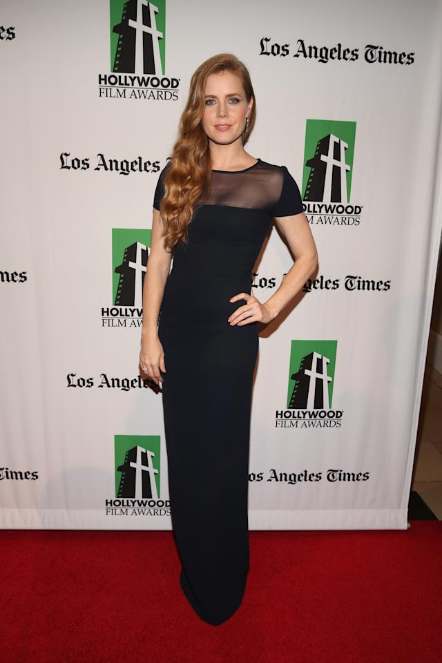 HOLLYWOOD, CA - OCTOBER 22:  Honoree Amy Adams arrives at the 16th Annual Hollywood Film Awards Gala presented by The Los Angeles Times held at The Beverly Hilton Hotel on October 22, 2012 in Beverly Hills, California.  (Photo by Christopher Polk/Getty Images for HFAG)