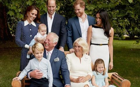 Royal family photo taken for Prince Charles' 70th birthday - Credit: Getty