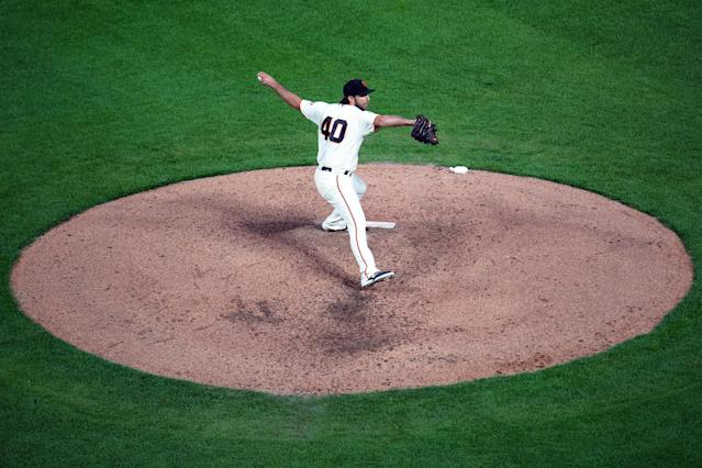 Madison Bumgarner started Thursday night in what might be his final start for the San Francisco Giants. (Getty Images)