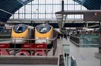 <b>Eurostar, UK</b> that runs at 300 km/h (186 mph) connects London, Paris and Brussels. (Getty Images)