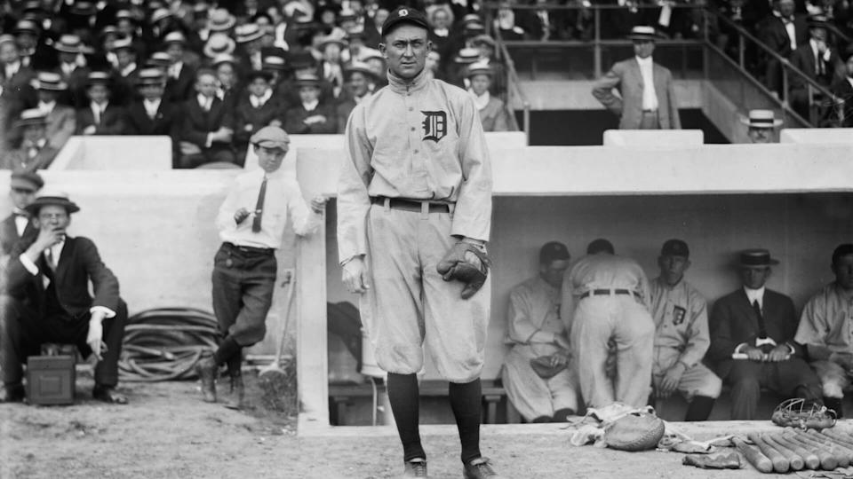Mandatory Credit: Photo by Glasshouse Images/Shutterstock (5794327a)Ty Cobb, Major League Baseball Player, Portrait, Detroit Tigers, circa 1913VARIOUS.