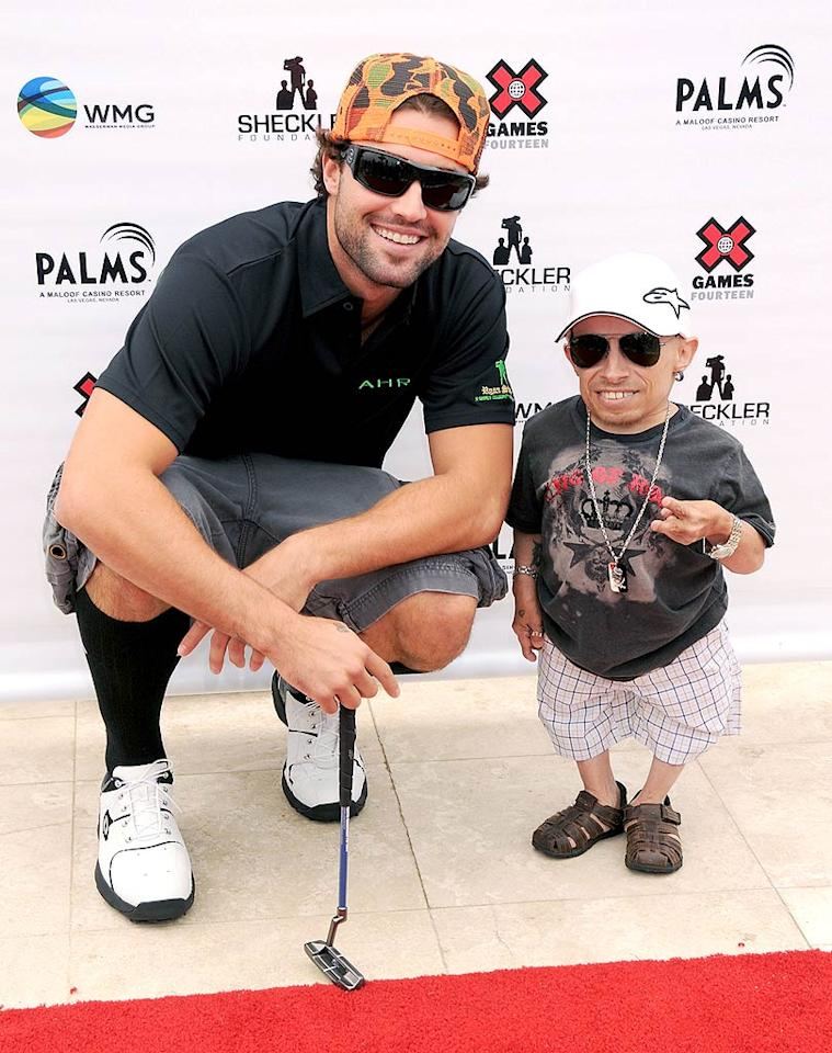 """Hills"" hottie Brody Jenner poses for a picture with former ""Surreal Life"" star Verne Troyer. Gregg DeGuire/<a href=""http://www.wireimage.com"" target=""new"">WireImage.com</a> - July 29, 2008"