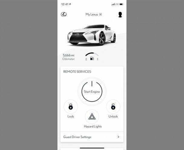 PHOTO: Lexus customers can remotely start their vehicle and request service maintenance via an app. (Lexus)