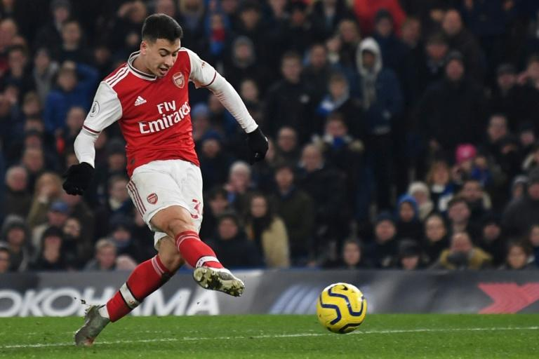 Gabriel Martinelli scored the first of Arsenal's two equalisers in a 2-2 draw at Chelsea