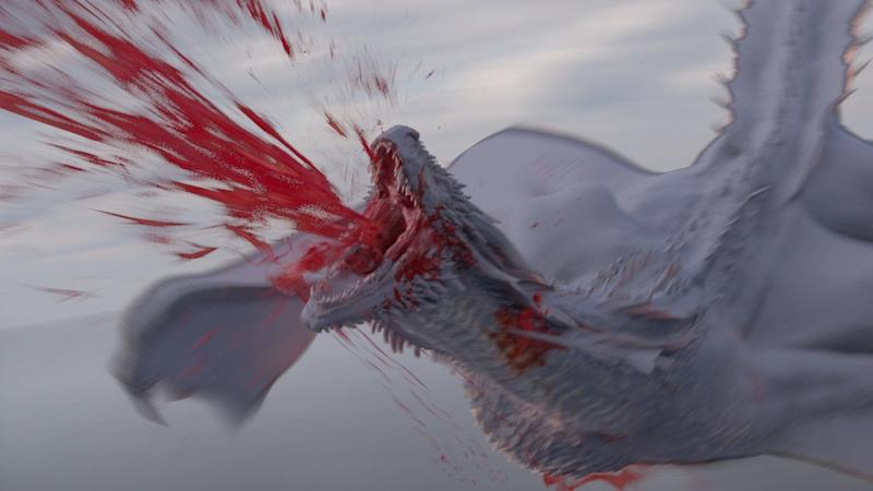Rhaegal's death in a pre-visualization stage (Photo: © 2019 Home Box Office, Inc.)