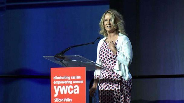 PHOTO: YWCA honored Dr. Christine Blasey Ford at their 'Inspire' luncheon in Santa Clara, Calif., Oct. 30, 2019. (KGO)