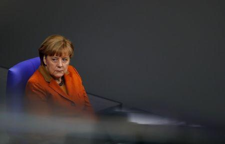 German Chancellor Angela Merkel attends a session of the lower house of parliament Bundestag in Berlin, Germany, January 26, 2017. REUTERS/Fabrizio Bensch