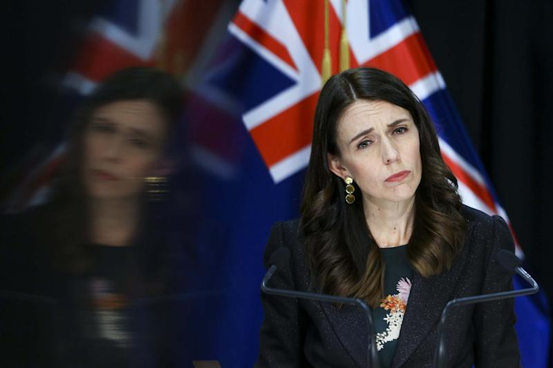 Prime Minister Jacinda Ardern speaks to media during a press conference at Parliament on May 27, 2020 in Wellington, New Zealand: Getty Images