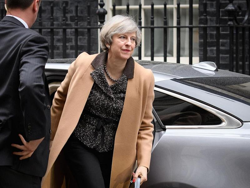 Ms May had vowed to take the country out of the EU with or without a deal (Getty)