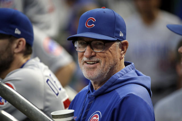 Joe Maddon will manage Shohei Ohtani and Mike Trout next season. (AP Photo/Gene J. Puskar)
