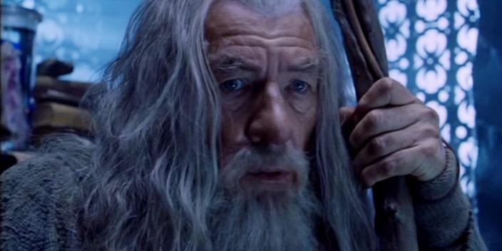 """Ian McKellen as Gandalf the Grey in """"The Lord of the Rings: The Fellowship of the Ring."""" <p class=""""copyright""""><a href=""""https://www.youtube.com/watch?v=p1Vyhve9gtg"""" rel=""""nofollow noopener"""" target=""""_blank"""" data-ylk=""""slk:New Line Cinema"""" class=""""link rapid-noclick-resp"""">New Line Cinema</a></p>"""