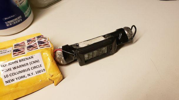 PHOTO: A photo of the device recovered from CNN by the NYPD bomb squad on Oct. 24, 2018, as confirmed by two law enforcement officials. (Obtained by ABC News)