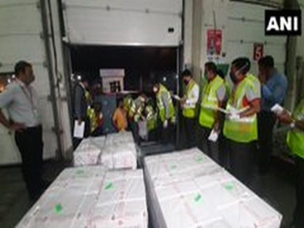 The first consignment of 1.5 lakh dosages of Covishield vaccine dispatched to Thimphu in Bhutan from Mumbai (Photo/ANI)