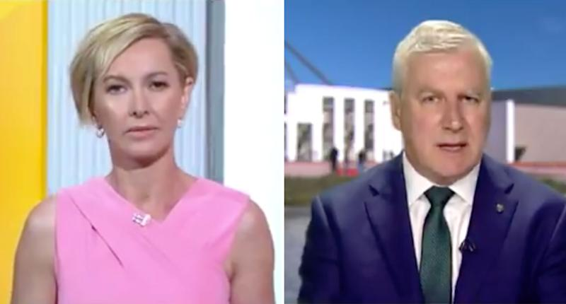 The Today Show host Deborah Knight is pictured with Deputy Prime Minister Michael McCormack.