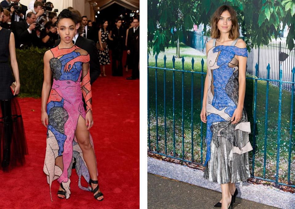<p>The British celebs wore two different versions of the same Christopher Kane dress last year. <i>[Photo: Getty]</i></p>