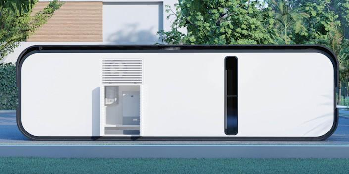the exterior of the one-bedroom Cube Two X