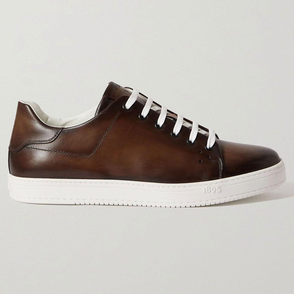 """<p><strong>Playtime Venezia Sneakers</strong></p><p>mrporter.com</p><p><strong>$1240.00</strong></p><p><a href=""""https://go.redirectingat.com?id=74968X1596630&url=https%3A%2F%2Fwww.mrporter.com%2Fen-us%2Fmens%2Fproduct%2Fberluti%2Fshoes%2Flow-top-sneakers%2Fplaytime-venezia-leather-sneakers%2F13452677150106899&sref=https%3A%2F%2Fwww.esquire.com%2Fstyle%2Fmens-accessories%2Fadvice%2Fg2538%2Fluxury-sneaker-brands-worth-spending-money%2F"""" rel=""""nofollow noopener"""" target=""""_blank"""" data-ylk=""""slk:Shop Now"""" class=""""link rapid-noclick-resp"""">Shop Now</a></p><p>Berluti's most known quality is its leathers. Many of them are colored—reds, greens, and blues, in addition to blacks and browns—and they have a hand-painted, artisanal appearance that makes them impossible to replicate. The sneakers rival designer dress shoes in terms of both sophistication and wearability. If you have the money to burn, these are virtually impossible to compete with.</p>"""