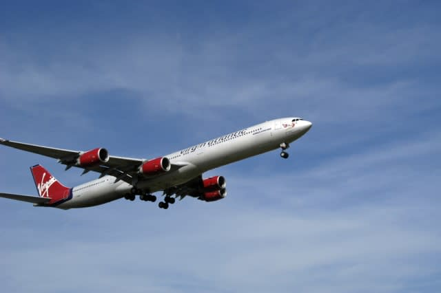 Virgin Atlantic aircraft in flight.
