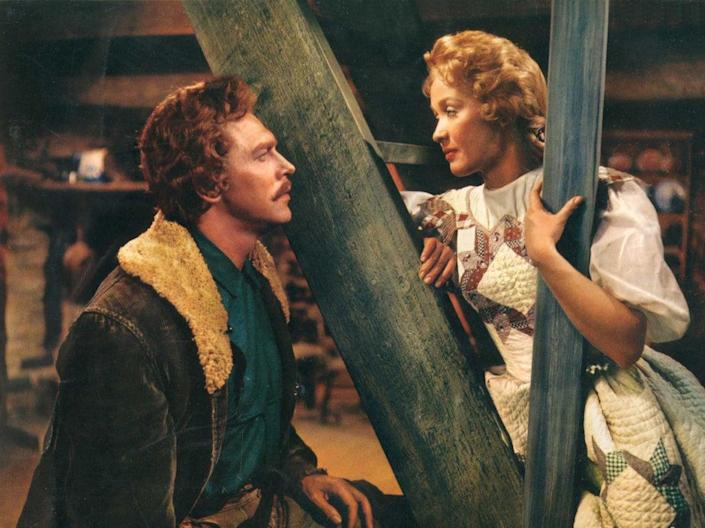 Jane Powell with Howard Keel in 'Seven Brides for Seven Brothers' (Moviestore/Shutterstock)