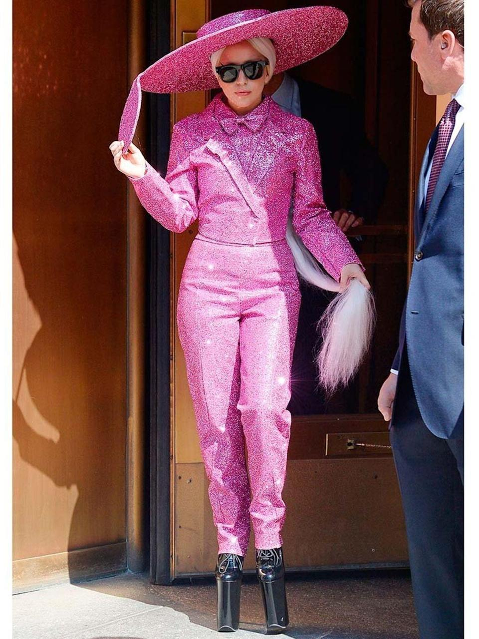 <p>Lady Gaga out and about in New York</p>