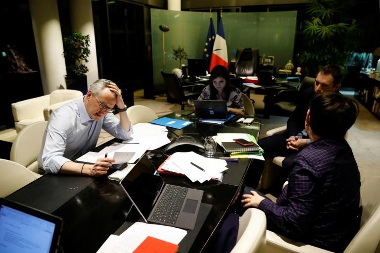 French Finance Minister Bruno Le Maire on the long phone call -- his government has sided with Italy and Spain (AFP Photo/Thomas SAMSON)