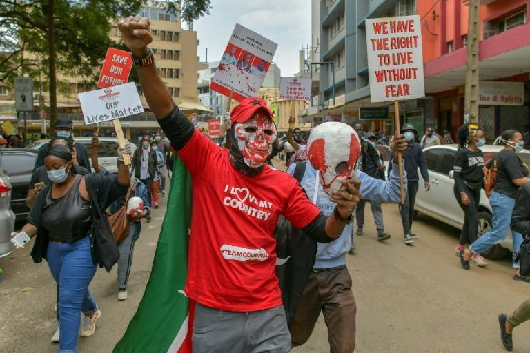 Kenyans demonstrated in July last year against police brutality