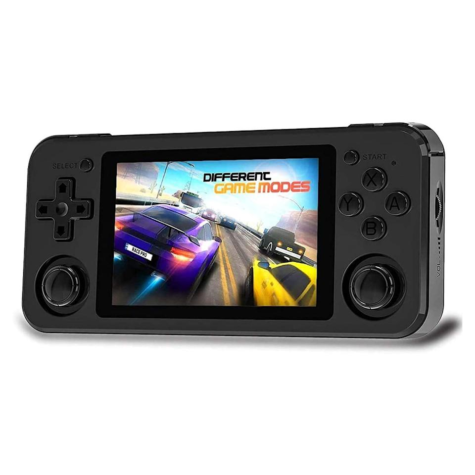 """<p><strong>$119.99</strong></p><p><a href=""""https://www.amazon.com/Handheld-Console-Classic-3500mAh-Battery/dp/B08K93JTSJ/?tag=syn-yahoo-20&ascsubtag=%5Bartid%7C10060.g.37678212%5Bsrc%7Cyahoo-us"""" rel=""""nofollow noopener"""" target=""""_blank"""" data-ylk=""""slk:Shop Now"""" class=""""link rapid-noclick-resp"""">Shop Now</a></p><p>At times, the Anbernic RG351P can feel like magic. Able to play <em>hundreds</em> of retro games across dozens of old consoles like the NES, Playstation 1, GameBoy Advance, Neo-Geo, and others, the volume and variety in its game library is staggering. And unlike many other retro-focused handheld consoles, the RG351P feels more modern with its easy-to-use interface, high-quality 3.5 inch screen, 3.5-millimeter headphone jack, USB-C charging, and a micro SD card slot for expandable storage.</p><p>The tricky part is the very nature of the system itself: the RG351P plays these games via emulation software. While emulations are amazing feats of technology, loading old games <em>into</em> emulators and then <em>selling them</em> is a legal gray area. </p><p>In the United States, widely sharing digital copies of copyrighted material like movies, games, and music is illegal. Anbernic, however, is a Chinese company obligated to Chinese law. Because of these legal differences, the RG315P comes pre-loaded with tons of copyrighted games. (It's a legal gray area where the consumer is safe, while the <em>producers</em> are squarely in a legal gray area.)</p>"""
