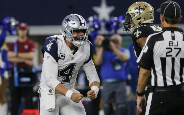 Dallas Cowboys quarterback Dak Prescott will face Russell Wilson and the Seahawks in their playoff opener. (AP)